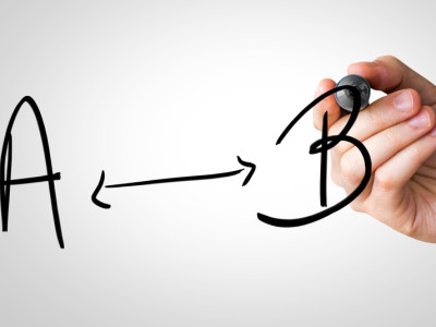 Sign A – B written on the Wipe board