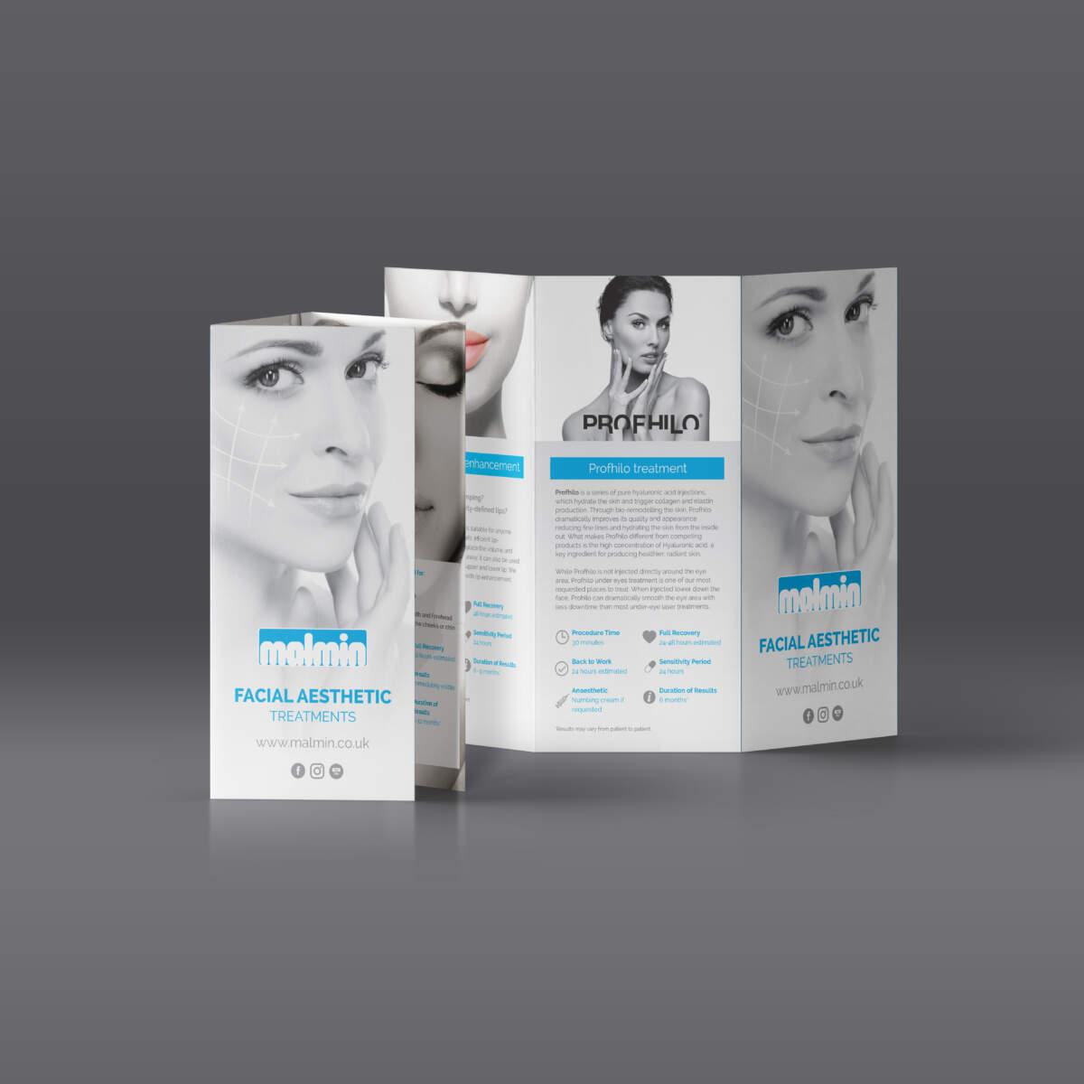 Malmin Facial Tri-fold mockup